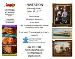 Oct. 22, 2012 TREE FROG Art Gallery &quot;Art Reveal&quot; Mount Dora, FL